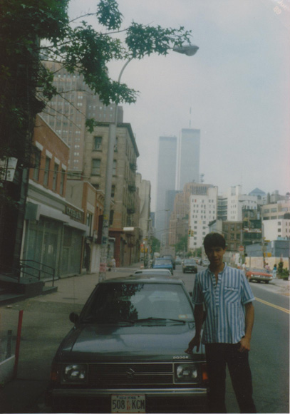 MY_WTC #168 | Andres 1989 | Humberto and the WTC at the background