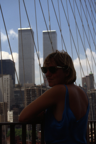 MY_WTC #670 | Herbert 1991 | Petra on Brooklyn Bridge